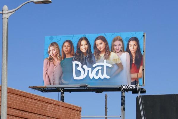 Brat YouTube channel billboard