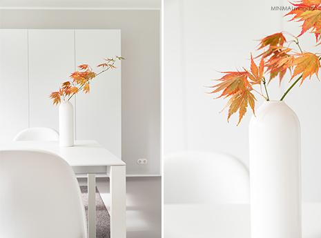 Herbstdekoration mit Herbstästen in der Vase - Federarhorn!