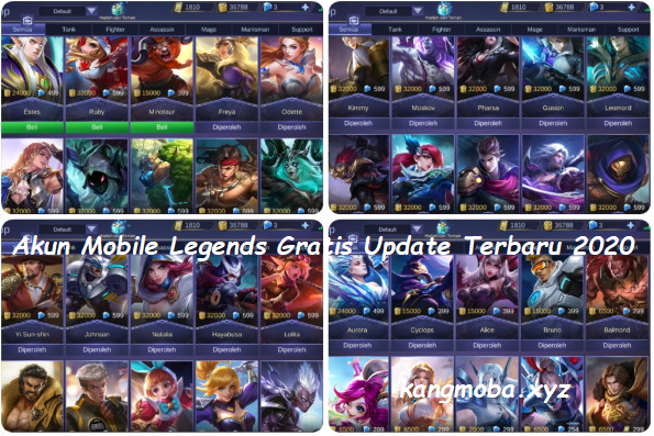 Download Akun Mobile Legends Gratis Update Terbaru 2020
