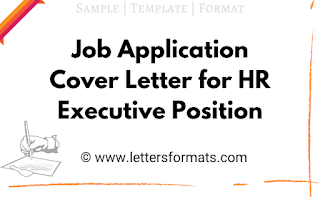 cover letter for job application hr executive