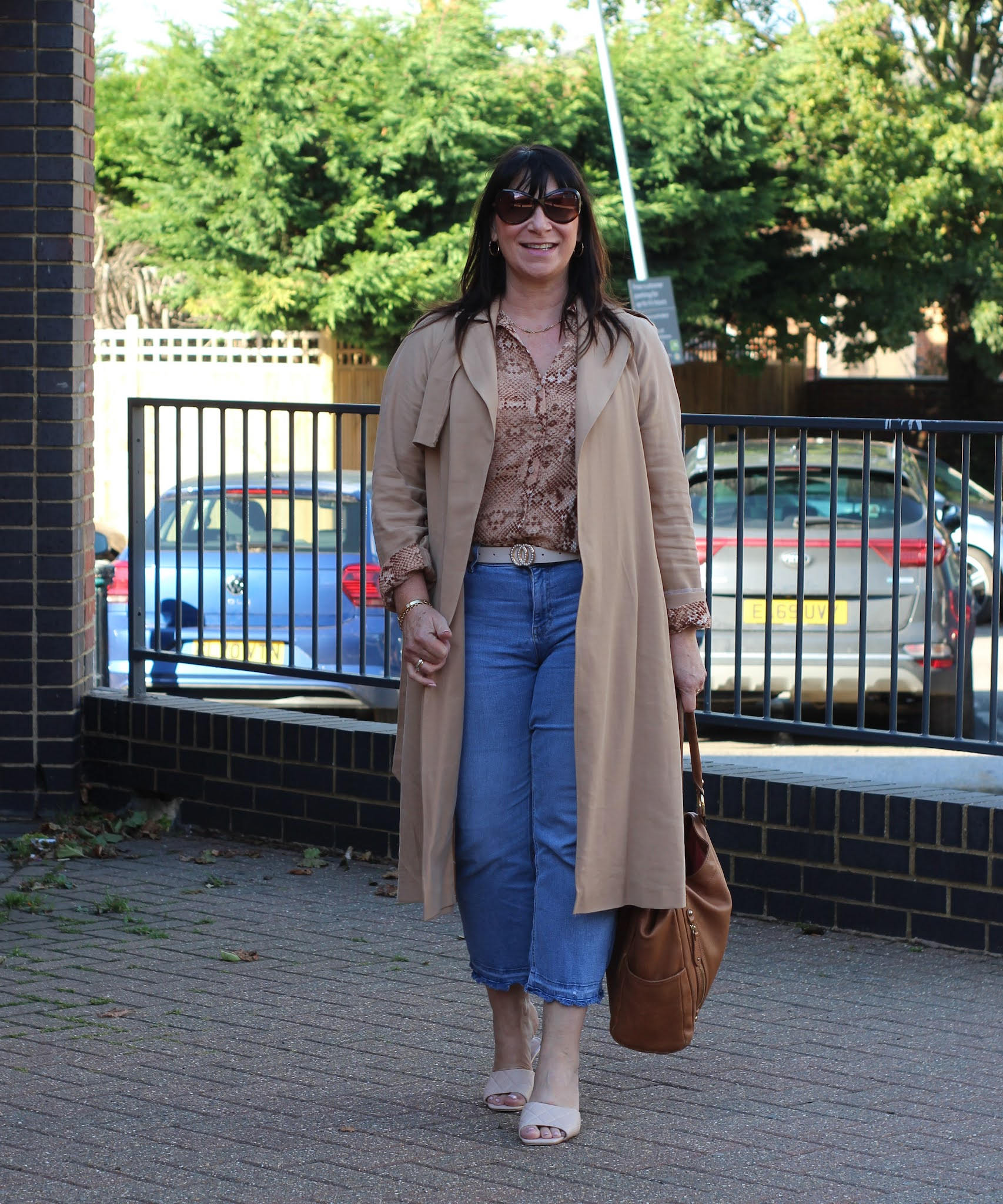 Neutral Trench, Animal Print Blouse - #Chicandstylish #LINKUP