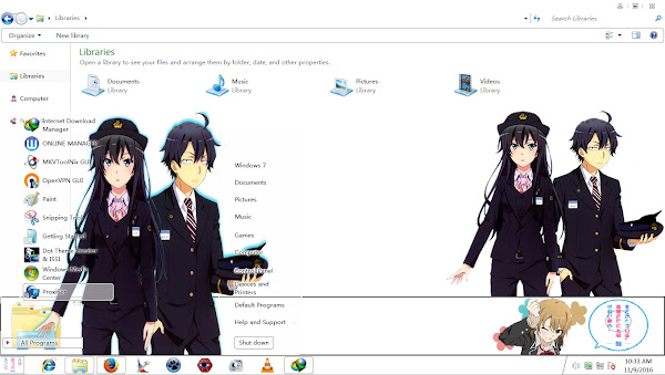 Theme Window 7 Oregairu Zoku By AoAnime 1