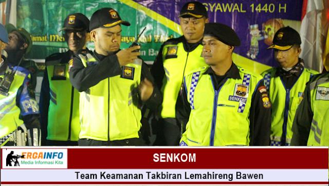 team keamanan malam takbiran dilemahireng adalah Linmas - Banser dan senkom.
