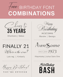 Free Birthday Font Combinations