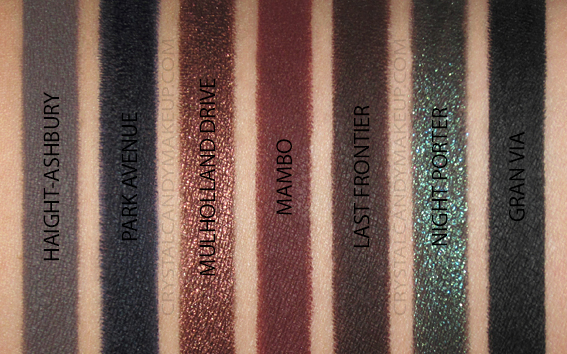 NARS High-Pigment Longwear Eyeliners Swatches Ashbury Avenue Drive Frontier Porter Via