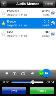L'app Audio Memos - Registratore