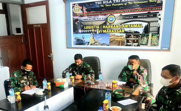 Aslog Danlantamal VI, Hadiri Vicom Pembukaan  Rakorlog TNI Angkatan Laut TA. 2021