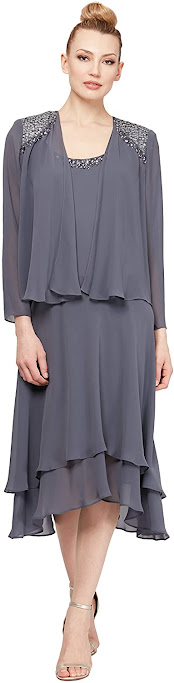 Elegant Tea Length Mother of The Groom Dresses