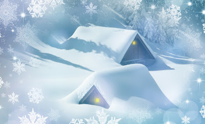 Christmas snow image