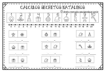 Natal, Adição, subtração, Atividades de Matemática, Atividades para 1º ano, BNCC,
