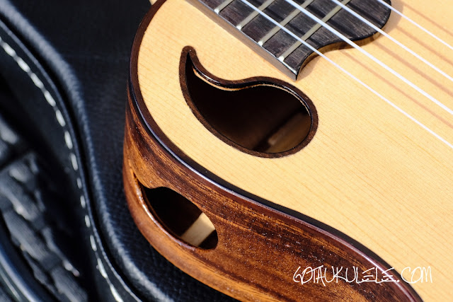 ZT Tenor Ukulele sound holes