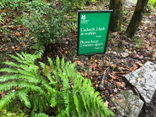 National Trust Two Metres Sign