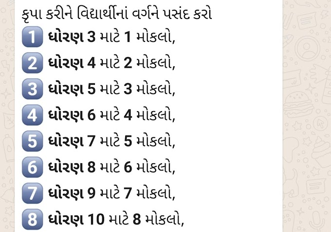 Whatsapp Based Weekly Exam Gujarat for 3 to 12 standard Student