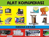 Download Banner Alat Peraga PAUD Tema Alat Komunikasi format CDR