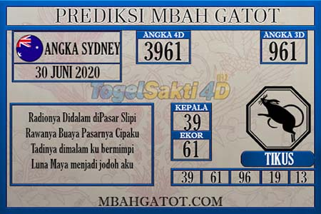 Prediksi Mbah Gatot Sydney Selasa 30 Juni 2020