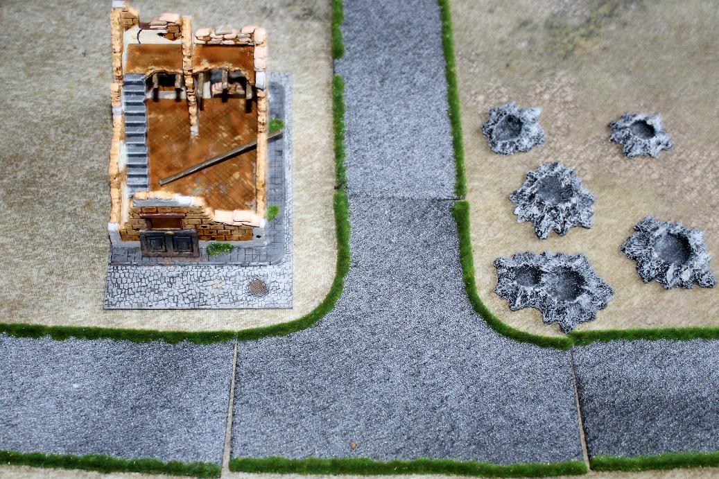 28mm scale resin terrain piece Medium Bomb Crater