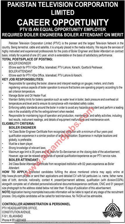 c4862a36b3a5 Jobs in Pakistan Television Corporation PTV Sunday Express Newspaper 04  Nov