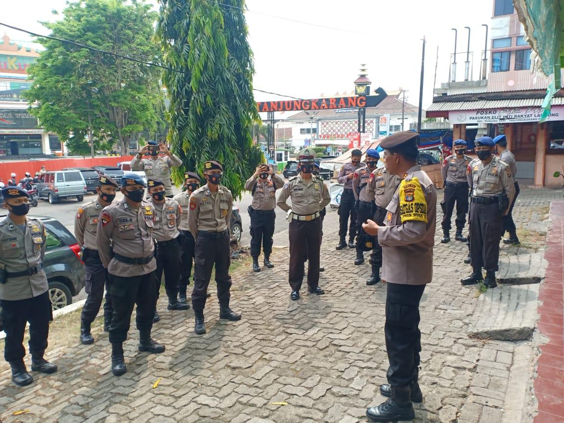 Polda Lampung  melaksanakan Penertiban  di Pasar Ramayana, Pasar Bawah dan Stasiun Kereta Api Tanjung Karang