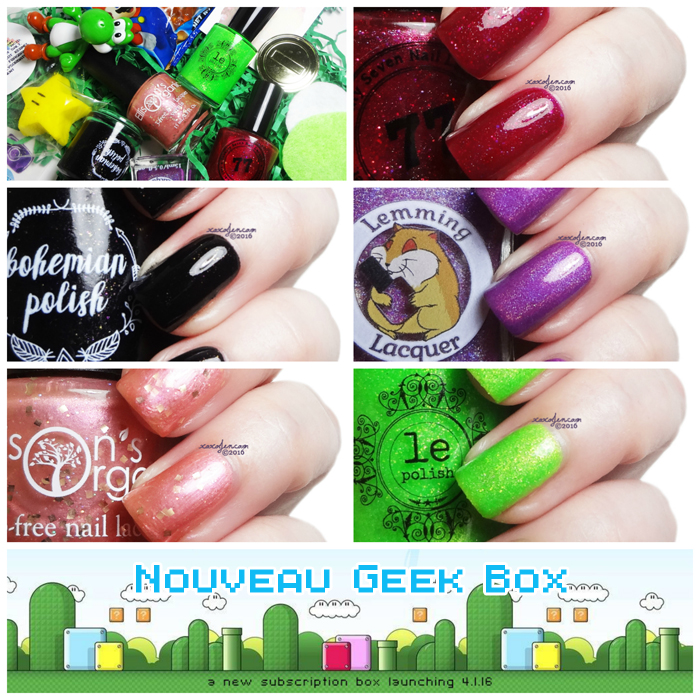 xoxoJen's swatch of Nouveau Geek Box: Mario