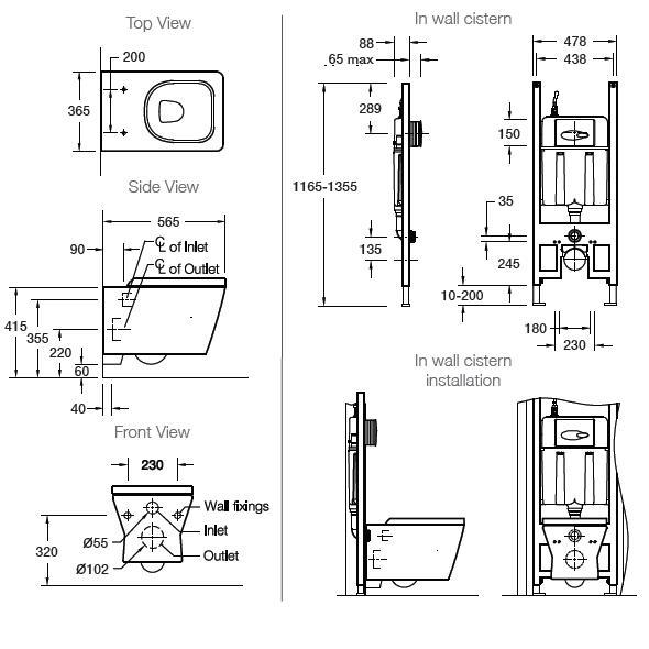 Modecor Toilet Suites Kohler Reve Wall Hung Inwall Toilet