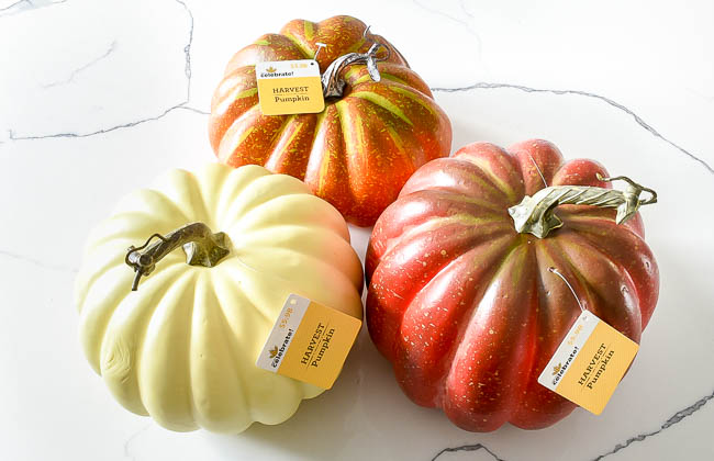 Faux pumpkins from walmart