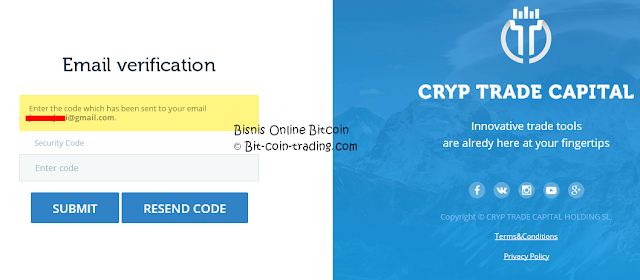 Panduan Cara daftar di Cryp Trade bagian 3