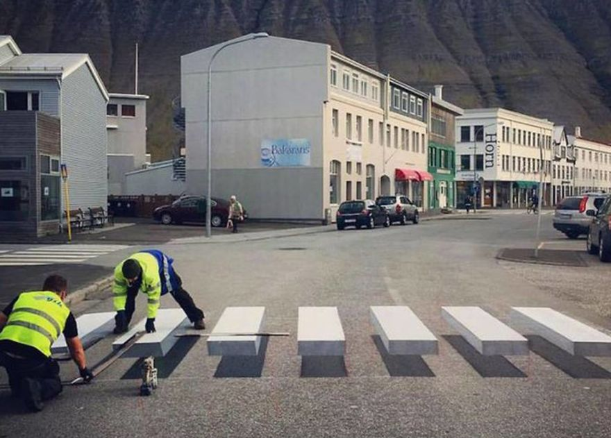 With 3D Zebra Crosswalk, This Town In Iceland Found The Perfect Way To Slow Down Speeding Cars