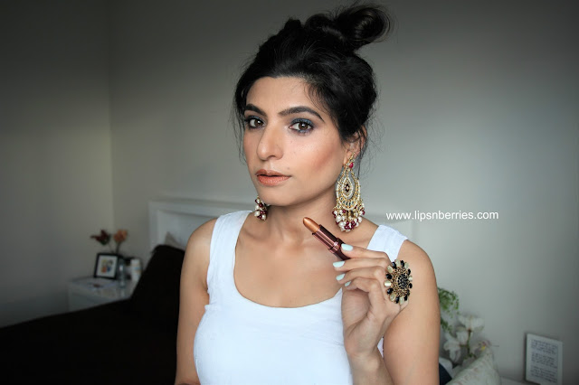 Karen murrell haute lipstick swatch