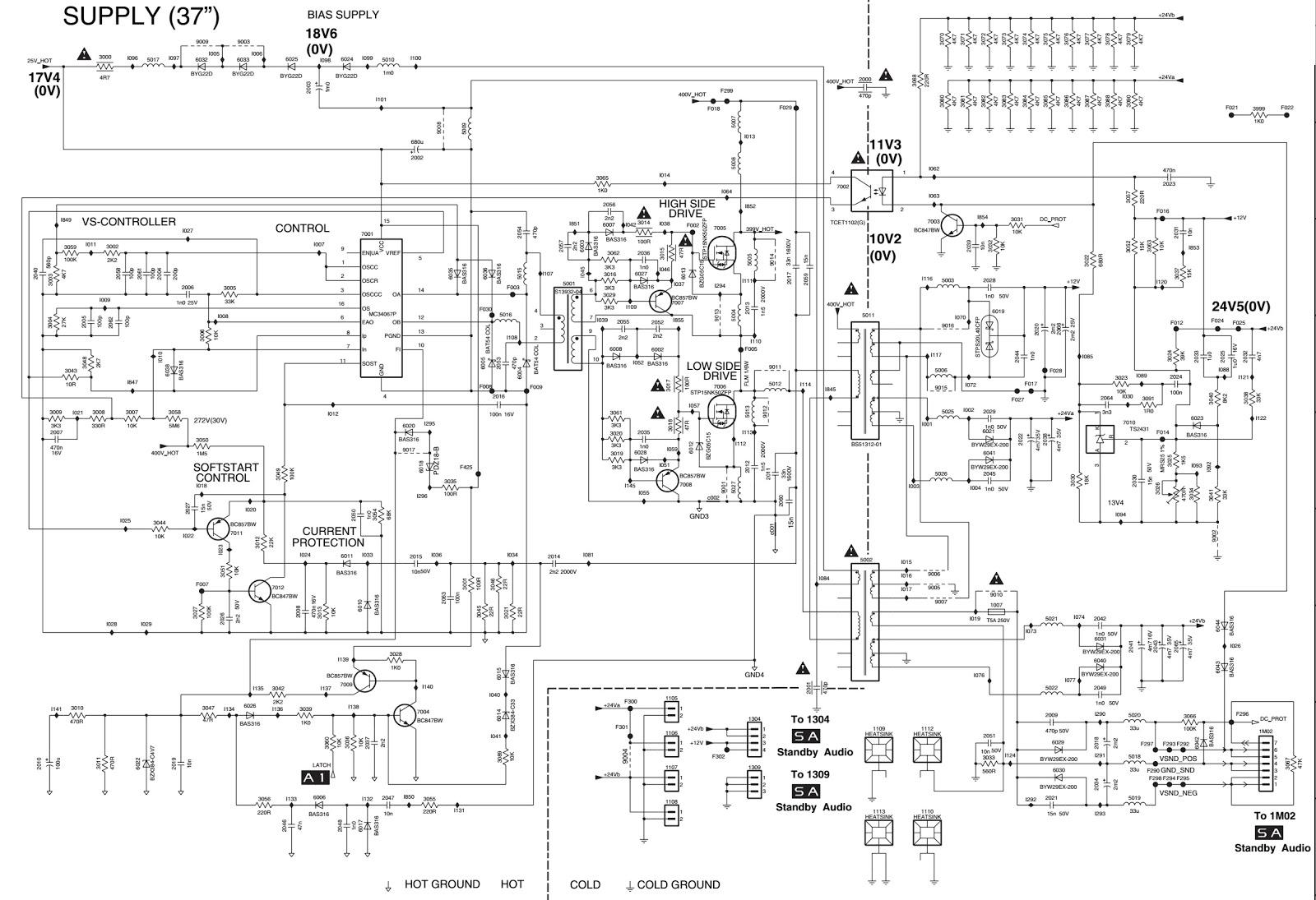 sony led tv circuit diagram