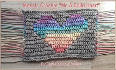 mosaic crochet heart