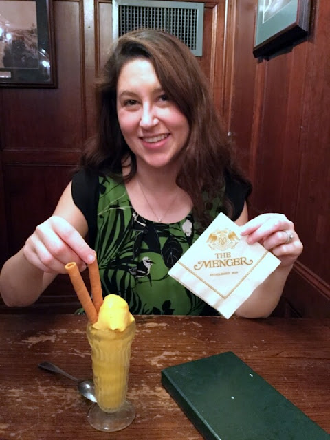 World-famous mango ice cream at the Menger bar in San Antonio