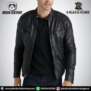 Jual Jaket Kulit Asli Garut Pria Domba Original Brida Leather B65 | WA 08813430588