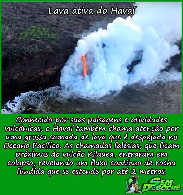 Lava ativa do Havaí