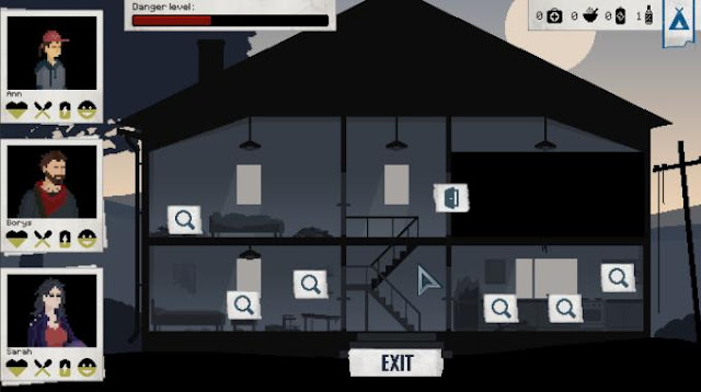 Survive the Blackout is a survivor in an apocalyptic setting, a game in which you have to take responsibility for managing an entire squad of survivors, a group that needs to be taken to the shelter at all costs.