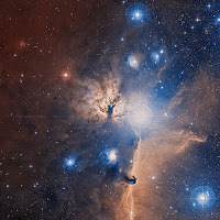 Optical Image of the Flame Nebula