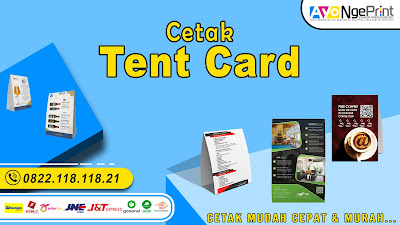 Cetak Tent Card Murah Terpercaya di Johar Baru, Jakarta Pusat