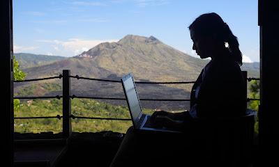 remote working en la naturaleza