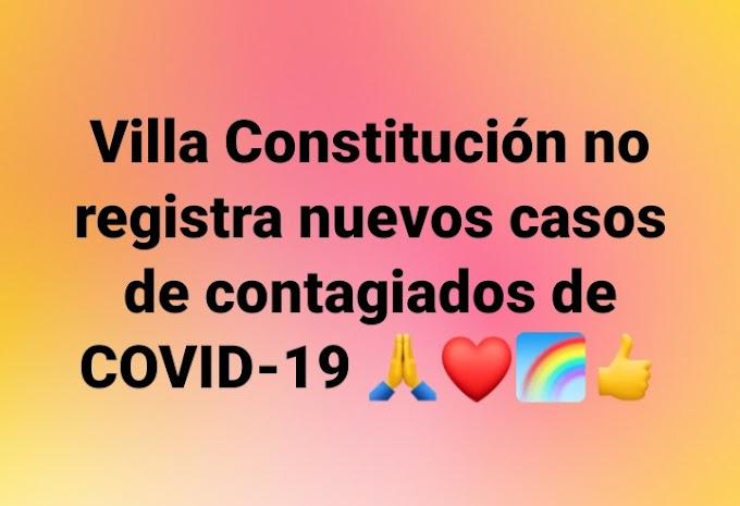 Villa Constitución no registra nuevos casos de contagiados de COVID-19