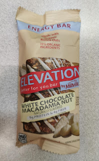 Individual Elevation by Millville White Chocolate Macadamia Nut Bar, from Aldi, in original packaging