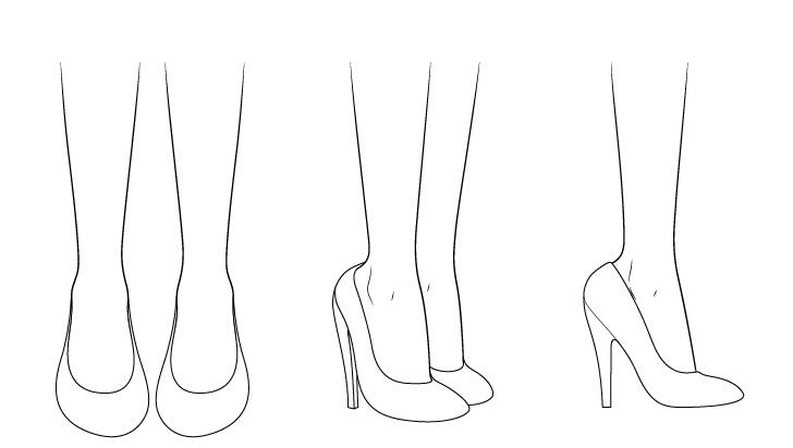 Gambar sepatu hak tinggi anime