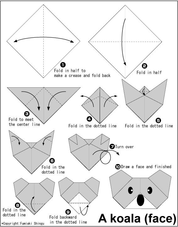 කෝලාගේ මුහුණ හදමු (Origami Koala(Face)) - Your Choice Way