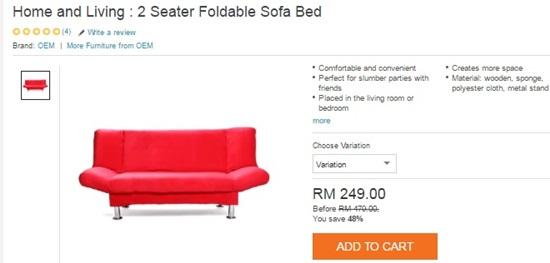 Dekorasi Lebaran Hias Rumah Cantik-Cantik Sambut Raya, sofa bed, foldable sofa