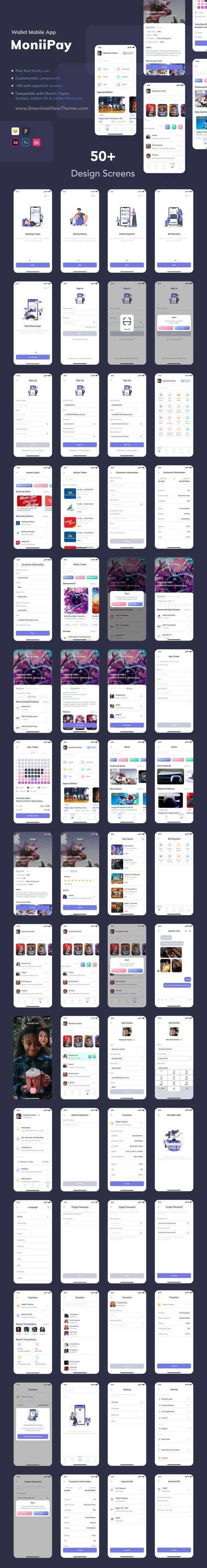 Wallet Mobile App UI Kit