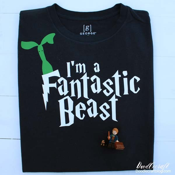 I'm a fantastic Beast Harry Potter themed shirt diy