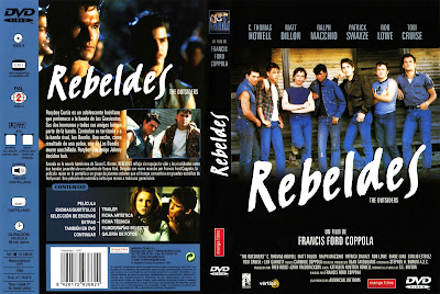 Carátula dvd: Rebeldes (1983) The OutSiders