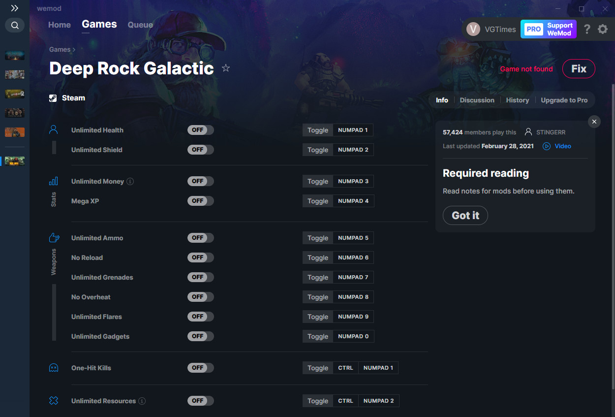 Deep Rock: Galactic:  Trainer (+12) from 02/28/2021 [WeMod]