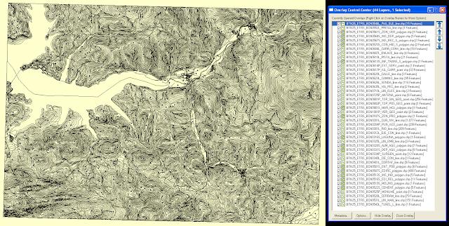 Hoja BTN25 en Global Mapper