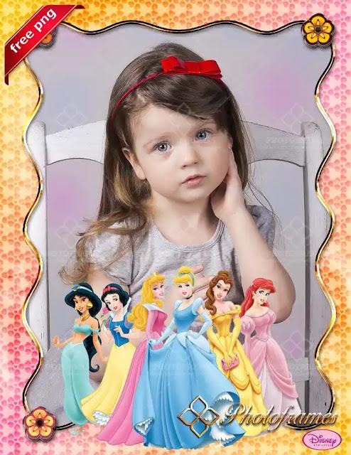 Plantilla para fotos de las Princesas de Disney