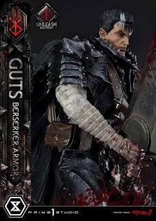 Berserk - Guts in Bersrk Armor Rage Edition y Unleash Edition Statues de Prime 1 Studio