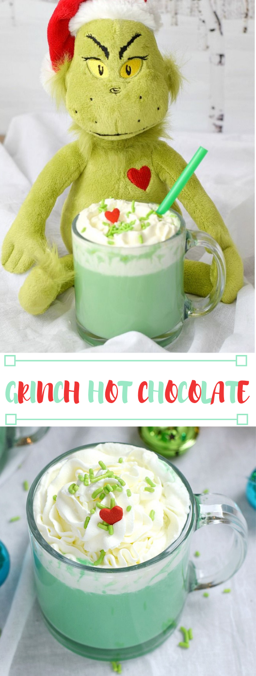 GRINCH HOT CHOCOLATE #drink #chocolate #hot #party #fresdrink